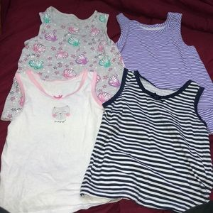 GUC BUNDLE OF TANK TOPS SIZE 4-6 YEARS OLD 💜